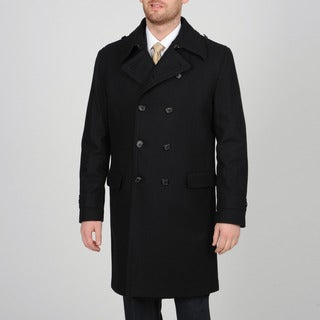 Mens Long Wool Pea Coat GVK5Zj