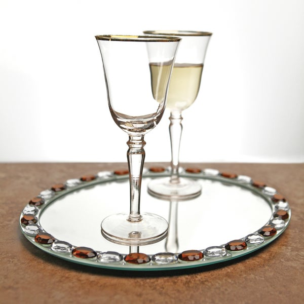 Crystal Clear Wine Glass Set with Tray