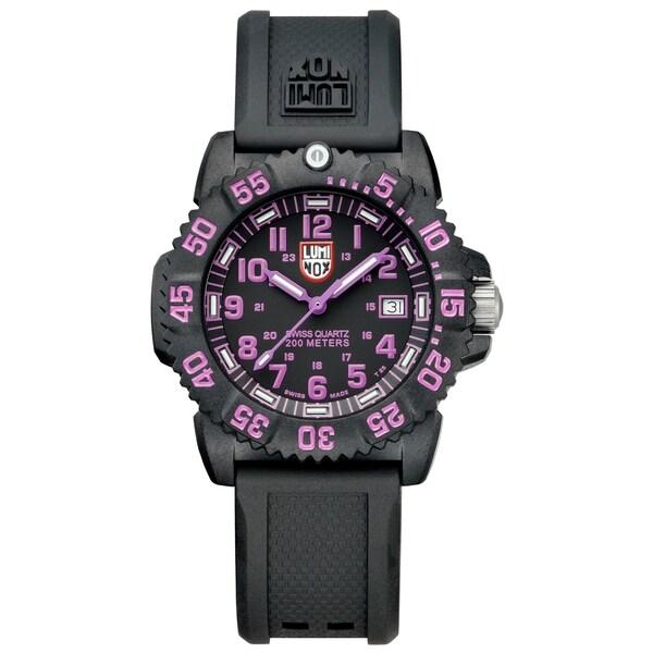 luminox s navy seal colormark black purple