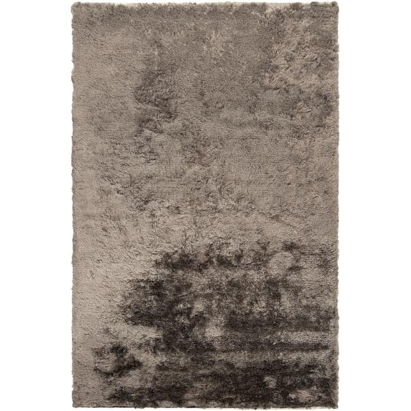 Hand-woven Arequipa Grey Solid Soft Plush Shag Area Rug - 2' x 3'