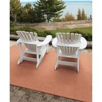 Pergola Deco Terracotta/Natural Indoor/Outdoor Area Rug - 5'10 x 9'2
