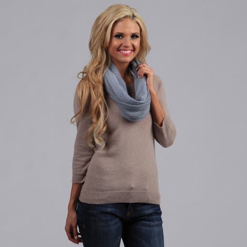 Peach Couture Gray-Blue Infinity Loop Scarf