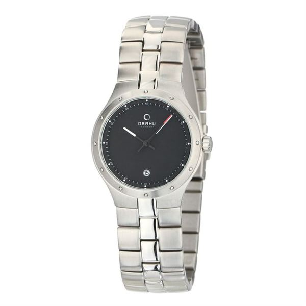 Obaku Men's V111LCBSC 'Harmony' Silver Stainless Steel Watch