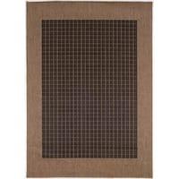 Recife Checkered Field/ Black Cocoa Rug - 8'6 x 13'