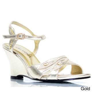 Stanzino Women's Slingback Wedge Sandals