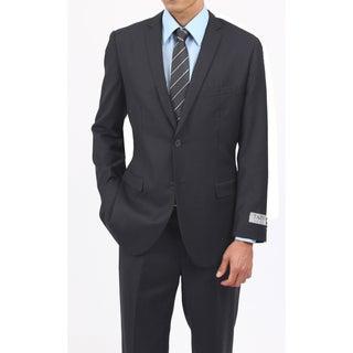 Tazio Men's Slim Fit Charcoal 2-button Suit (More options available)