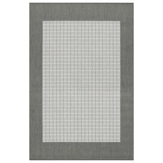 Recife Grey/ White Checkered Rug (2' x 3'7)