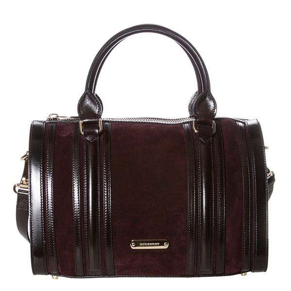 Burberry 'Alchester' Medium Suede and Leather Bowler Bag