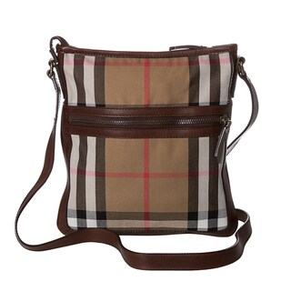 Burberry Vintage Washed House Check Crossbody Bag
