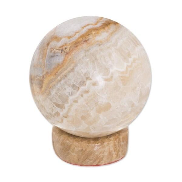 Handmade Calcite and Jasper 'Inner Peace' Sphere (Peru)