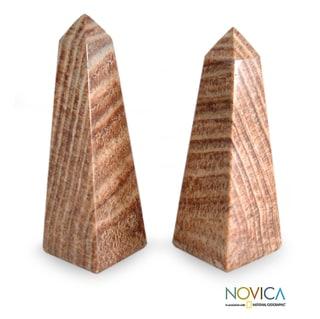 Link to Set of 2 Aragonite 'Towers' Obelisks (Peru) Similar Items in Wall Sculptures