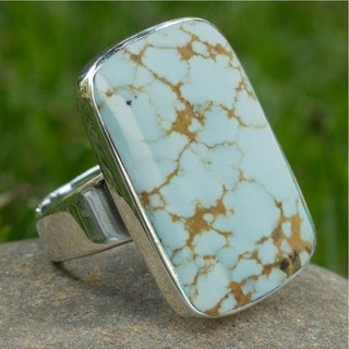 Sterling Silver 'Caribbean Mosaic' Turquoise Ring (Mexico)
