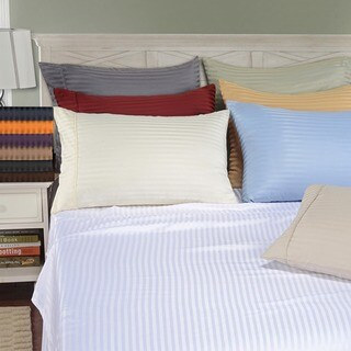 Superior Wrinkle Resistant Microfiber Stripe Pillowcases (Set of 2)