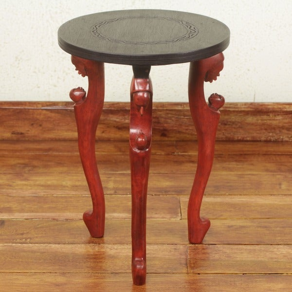 Handmade Sese Wood 'African Mother' End Table (Ghana)