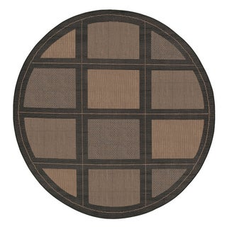 Recife Summit Cocoa/ Black Rug (7'6 Round)