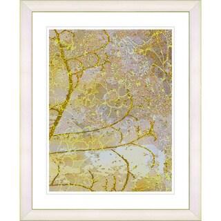 Zhee Singer Studio Works Modern 'Flower Branches - Gold' Framed Giclee Print