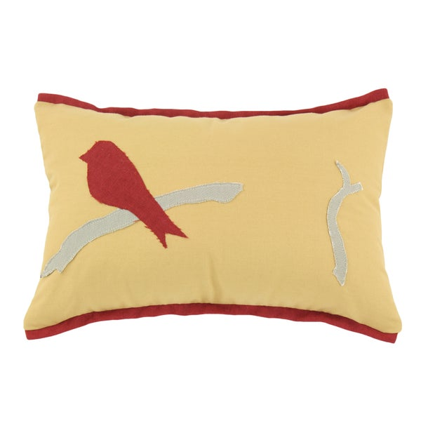 Pebbletex Nugget Bird Lava Flanged Pillow