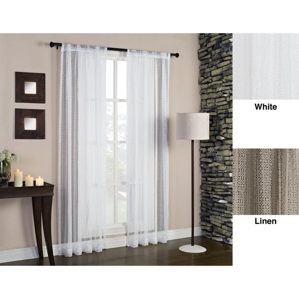 Cane Rod Pocket 84 Inch Curtain Panel Free Shipping On Orders Over 45 15116523