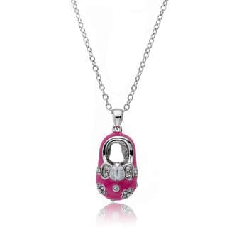 Little Miss Twin Stars Silvertone Crystal and Pink Enamel Baby Shoe Necklace|https://ak1.ostkcdn.com/images/products/7710859/7710859/Little-Miss-Twin-Stars-Silvertone-Crystal-and-Pink-Enamel-Baby-Shoe-Necklace-P15116530.jpg?impolicy=medium