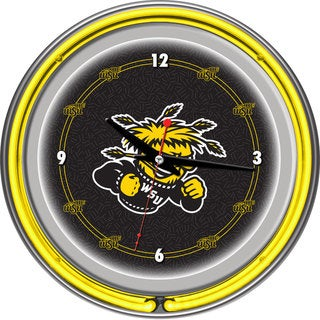 NCAA Wichita State University Neon Clock