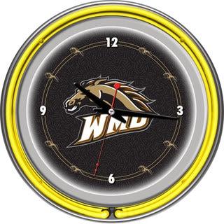 NCAA Western Michigan University Neon Clock