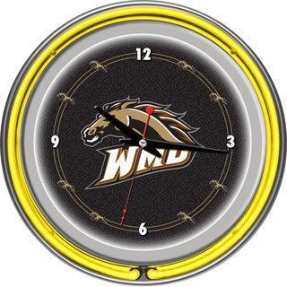 NCAA Western Michigan University Neon Clock