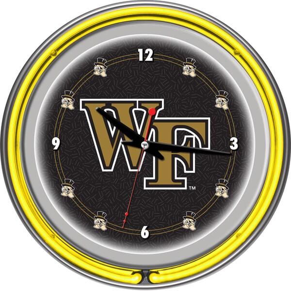 NCAA Wake Forest University Neon Clock