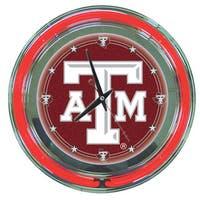 Texas A&M University Neon Clock