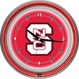 North Carolina State Neon Clock