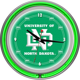 University of North Dakota Neon Clock