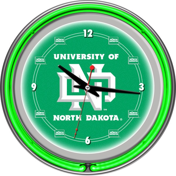 University of North Dakota Neon Clock