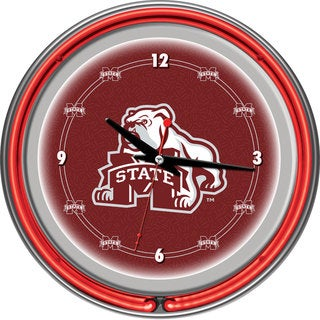 Mississippi State University Neon Clock