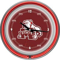 Mississippi State University Neon Clock