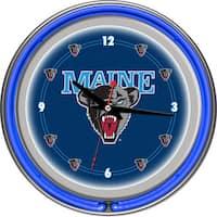 NCAA University of Maine Neon Clock
