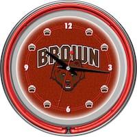 Brown University Neon Clock