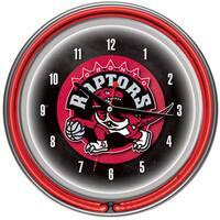 Toronto Raptors NBA Chrome Double Neon Ring Clock