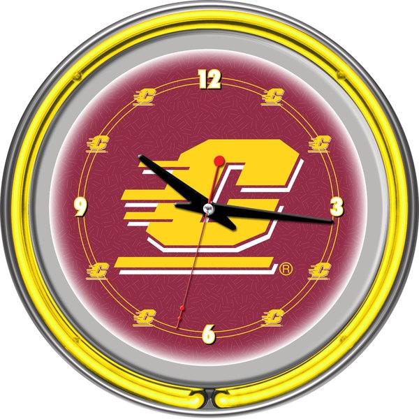NCAA Central Michigan University Neon Clock