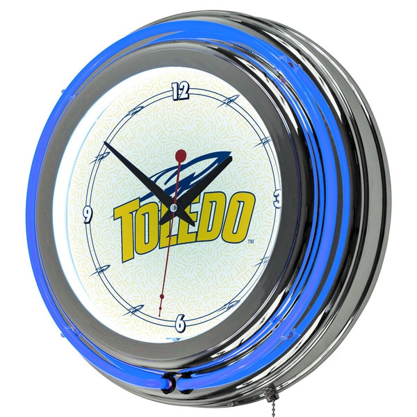 NCAA University of Toledo Neon Clock