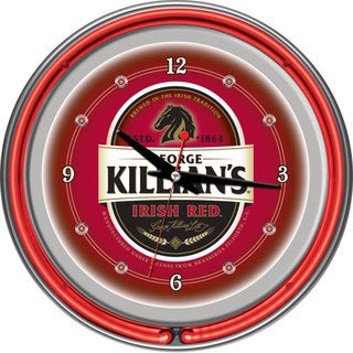 George Killian's Double Neon Ring Clock