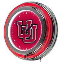 NCAA University of Utah Neon Clock