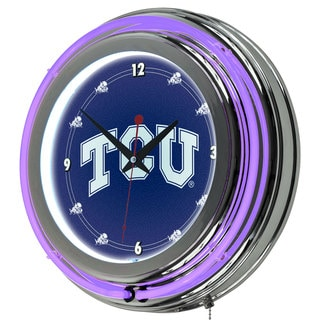 Texas Christian University Neon Clock