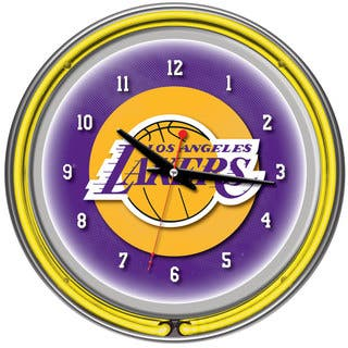 Los Angeles Lakers NBA Chrome Double Ring Neon Clock|https://ak1.ostkcdn.com/images/products/7711031/P15116672.jpg?impolicy=medium