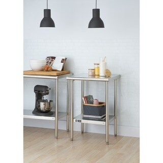 Trinity EcoStorag 24-inch Stainless Steel Table