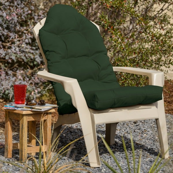 shop outdoor all weather adirondack tufted chair cushion free