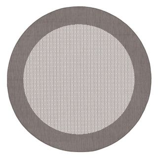 Recife Checkered Field Grey/ White Rug (7'6 Round)