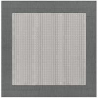 Recife Checkered Field Grey-White Indoor/Outdoor Square Rug - 7'6 x 7'6