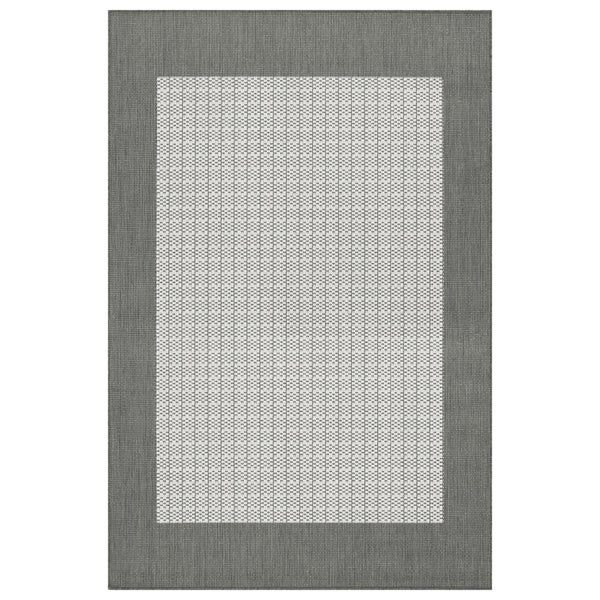 Recife Checkered Field Grey-White Indoor/Outdoor Rug - 7'6 x 10'9