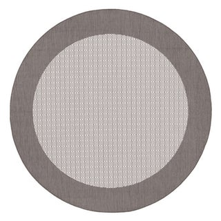 Recife Checkered Field Grey/ White Rug (8'6 Round)