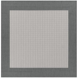 Recife Checkered Field Grey/ White Rug (8'6 Square)