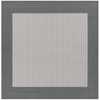 "Recife Checkered Field Grey/ White Indoor/Outdoor Square Area Rug - 8'6"" x 8'6"""